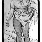 Originální karton s postavou Hopsodářství od Mikoláše Alše