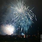 Novoroční ohňostroj 2010 ve Slaném