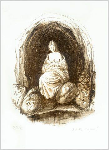Zdenka Krejčová (2008), litografie
