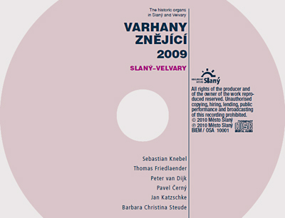 CD Varhany znějící 2009, Slaný–Velvary