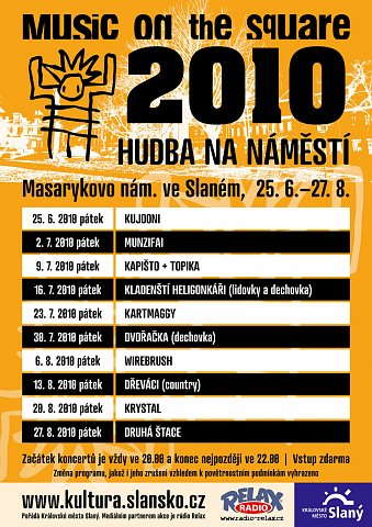 Music on tehe square 2010 – plakát