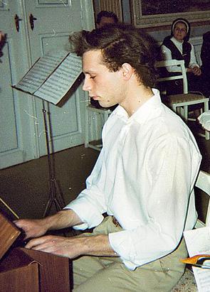 Ondřej Macek na zámku v Budenicích, 24. 4. 1993