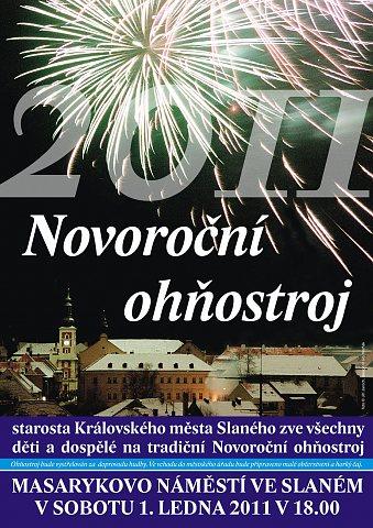 Novoroční ohňostroj 2011 – plakát