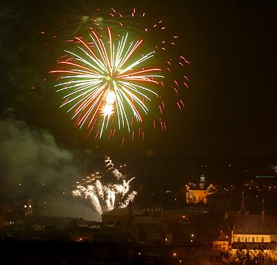 Novoroční ohňostroj 2011