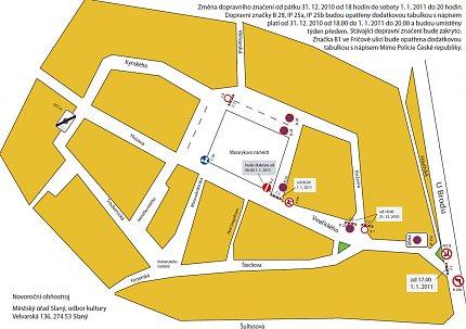 Novoroční ohňostroj 2011 – dopravní omezení a uzavírka