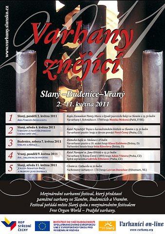 Varhany znějící 2011 - plakát