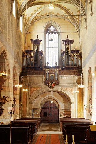 Reissovy varhany z roku 1783 v kostele sv.Gotharda ve Slaném