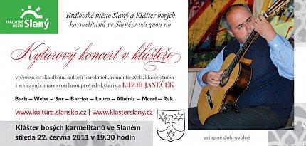 Kytarový recitál Libora Janečka – pozvánka