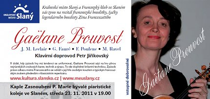 Gaëtane Prouvost – pozvánka na houslový recitál