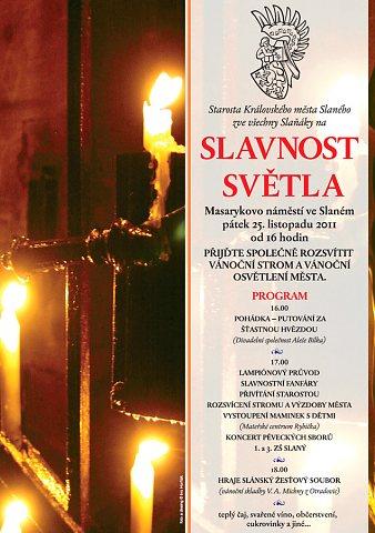 Slavnost světla 2011 – plakát