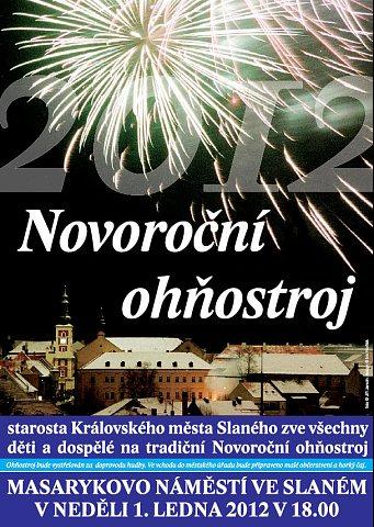 Novoroční ohňostroj 2012