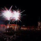 Novoroční ohňostroj 2012 ve Slaném