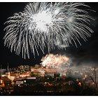 Novoroční ohňostroj 2012 ve Slaném (fotoIng. arch. Martin Eibner)