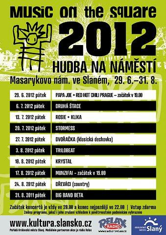 Hudba na náměstí 2012 – plakát