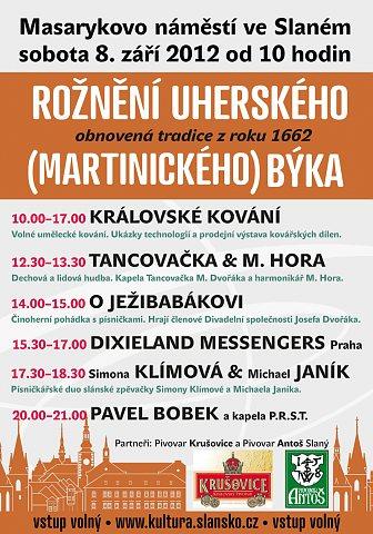 Rožnění býka 2012, plakát