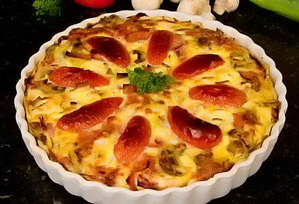 Francouzský slaný koláč – quiche