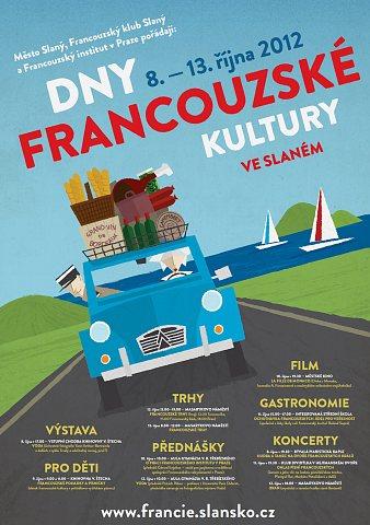 Dny francouzské kultury ve Slaném, plakát