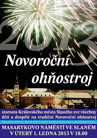 Novoroční ohňostroj 2013 – pozvánka