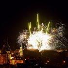 Novoroční ohňostroj 2013 ve Slaném