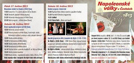 15. městské slavnosti ve Slaném (program)