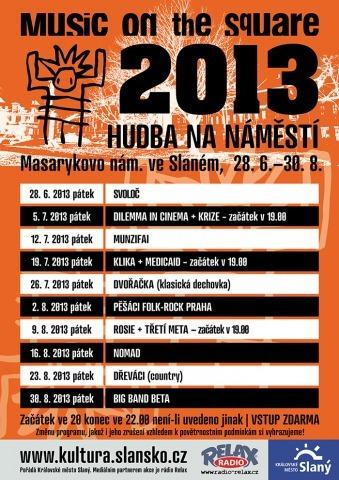 Hudba na náměstí 2013 – plakát