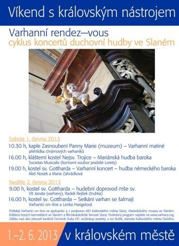 Varhanní rendez-vous ve Slaném – plakát
