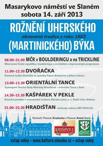 Rožnění martinického býka 2013 - plakát