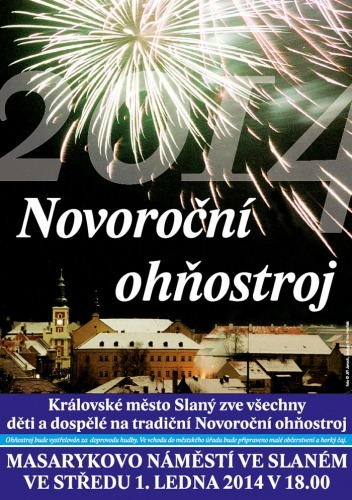 Novoroční ohňostroj 2014