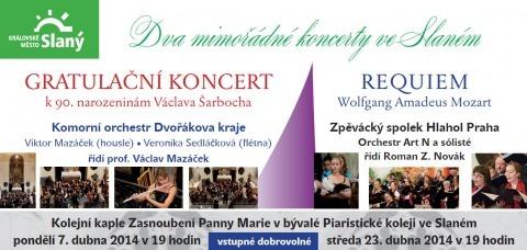 Dva mimořádné koncerty ve Slaném