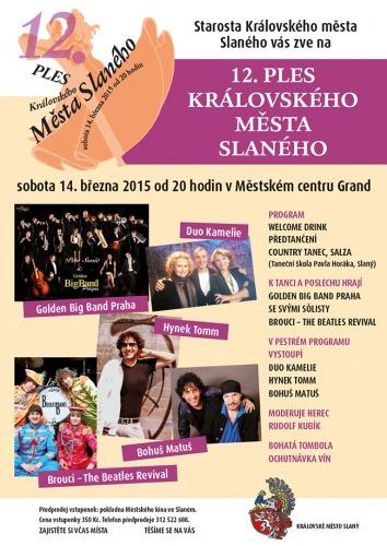 12. ples Královského města Slaného (plakát)