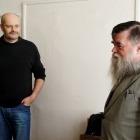 Karel Soukeník (mistr zvuku) a Tomáš Janeček (NIBIRU, producent)
