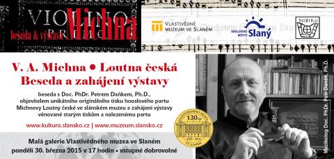 Pozvánka na besedu a azahájení výstavy s muzikologem Petrem Daňkem