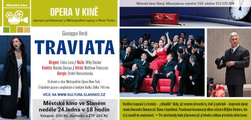 Verdiho Traviata z Metropolitní opery v New Yorku – pozvánka