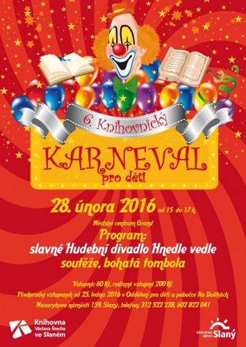 28. února 2016 se koná 6. Knihovnický karneval pro děti v Městském centru Grand