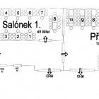 Přísálí I a salónek I  městského centra Grand (1. patro)