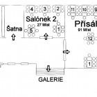 Přísálí II a salónek II městského centra Grand (2. patro)
