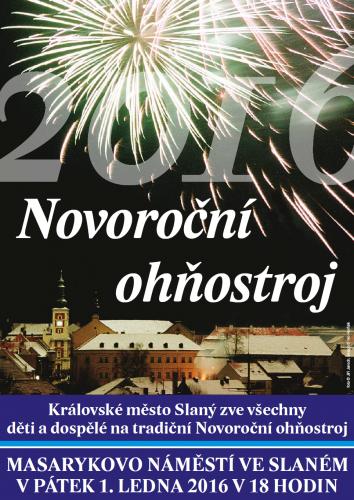 Nororoční ohňostroj ve Slaném 2016 – pozvánka