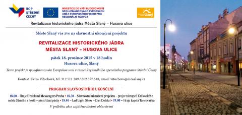 Slavnostní otevření zrekonstruované Husovy ulice ve Slaném – pozvánka