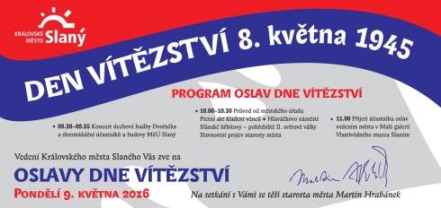 Oslava Dne vítězství 2016 ve Slaném