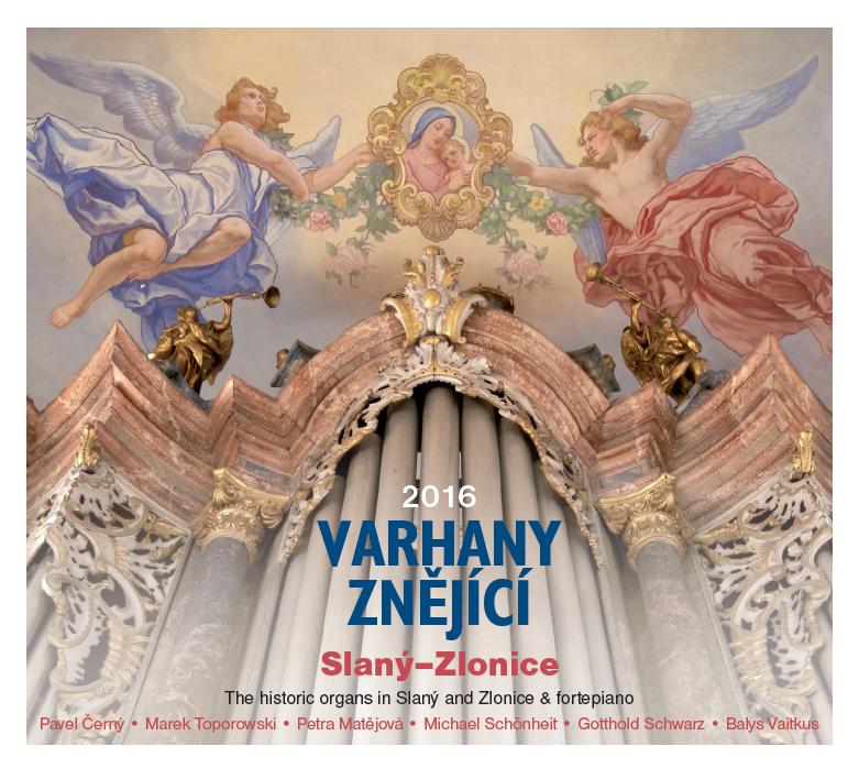 Titulní strana CD Varhany znějící 2016 Slaný–Zlonice